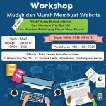 Workshop Membuat Website Mudah dan Murah 30 September 2017 ~ 1 Oktober 2017